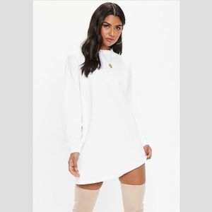 NWT Misguided White Basic Sweater Dress, 4